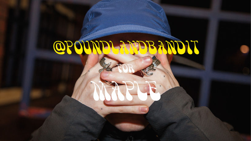 Maple SS18 campaign with Poundlandbandit, photography by J.M. Stasiuk, Canada