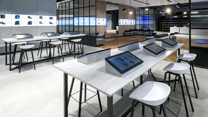 Eobuwie store designed by Dalziel & Pow, Poland