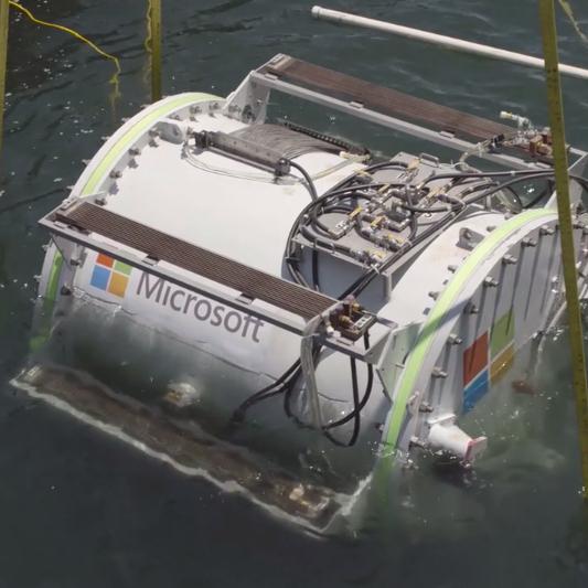Microsoft Data Centre underwater, Orkney Island,  Scotland