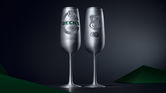 Beck's switches beer cans for champagne flutes