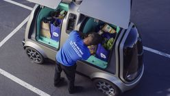 Grocery store chain unveils self-driving delivery scheme