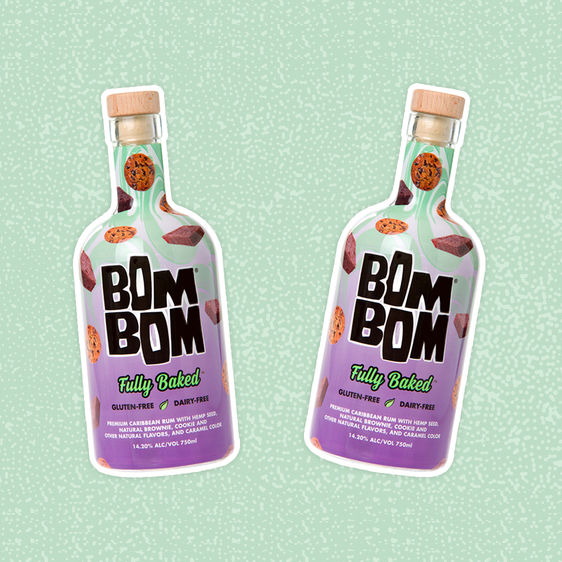 Fully Baked Hemp-Milk alcohol drink, BOMBOM, US