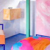Colour and texture elevate French hotel interior