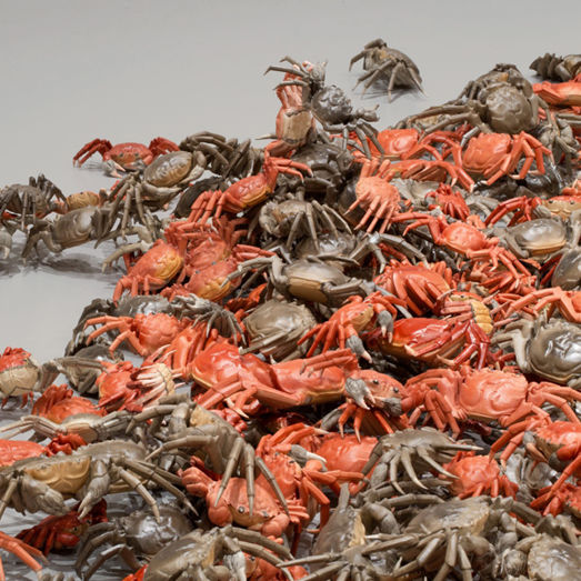 Porcelain River Crabs by Ai Wei Wei, Royal Academy of Arts, London