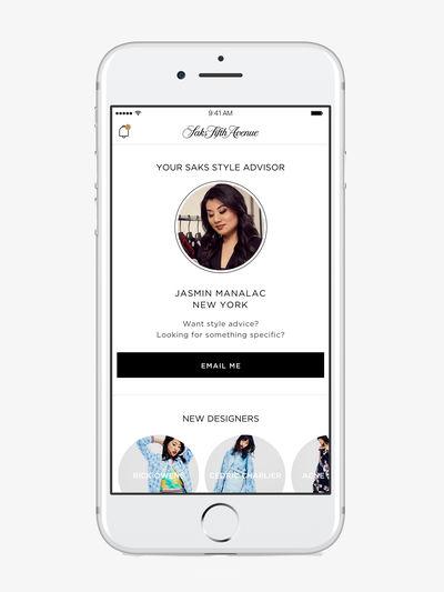 Saks Mobile Style Advisor, US