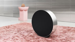 A rolling music speaker that encourages play