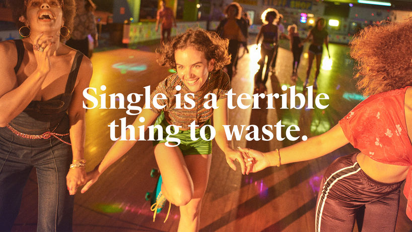 Single is a Terrible Thing to Waste by Wieden + Kennedy for Tinder. Photography by Ryan McGinley, New York
