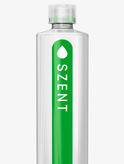 Mint flavoured water, Szent, US
