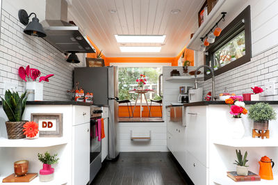 Dunkin' Donuts microhome by New Frontier Tiny Homes, US
