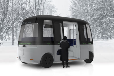 Self-Driving bus by MUJI and Sensible 4