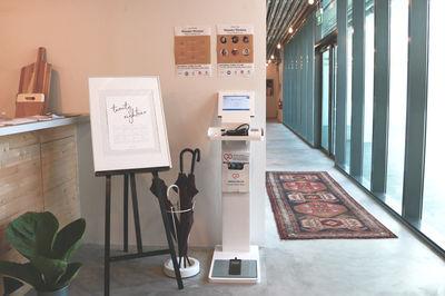 Health check kiosk in cafe, Smartfuture, Singapore
