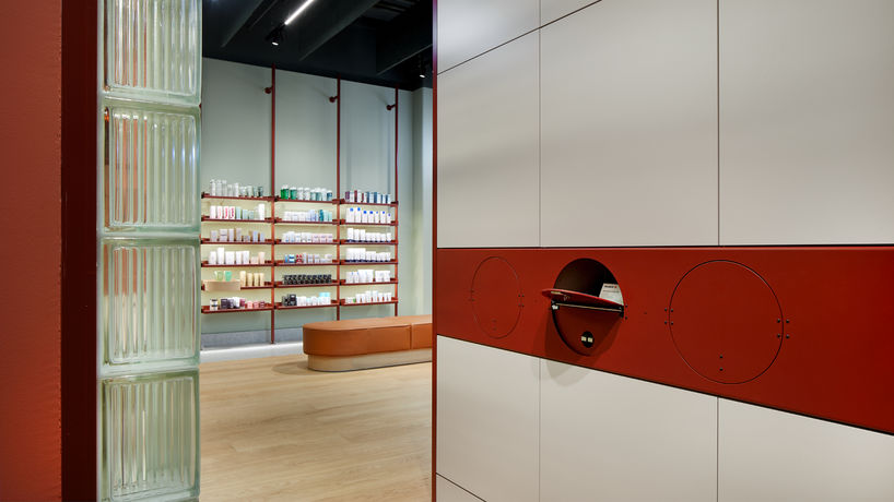 Apotheke pharmacy. Schultheiss Quartier in Berlin, designed by Studio Aisslinger, photography by Uwe Spoering