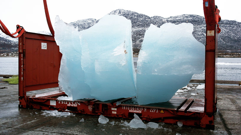 Ice Watch, London, photography by Group Greenland
