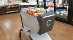 Caper cuts queues with a smart shopping trolley