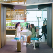 KLM builds a hologram bar to connect air travellers