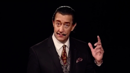 A deepfake Salvador Dali welcomes museum visitors