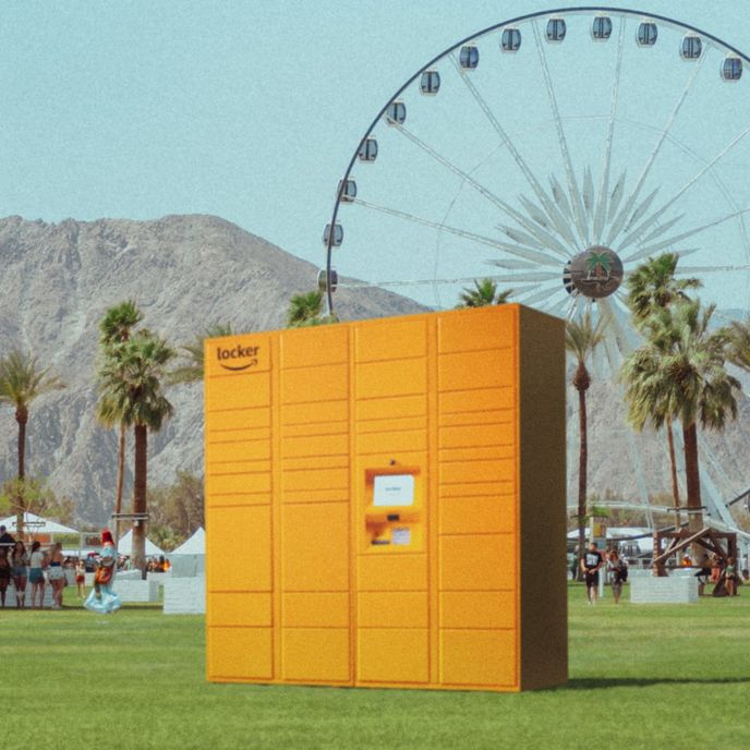 Amazon locker at Coachella