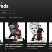 Prada's new brand touchpoint is a Spotify channel