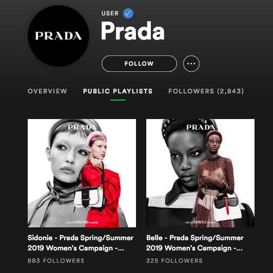 Prada on Spotify