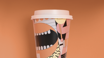 Texan coffee with a surrealist brand identity