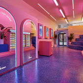 Day-glo decor elevates this CBD drinks store