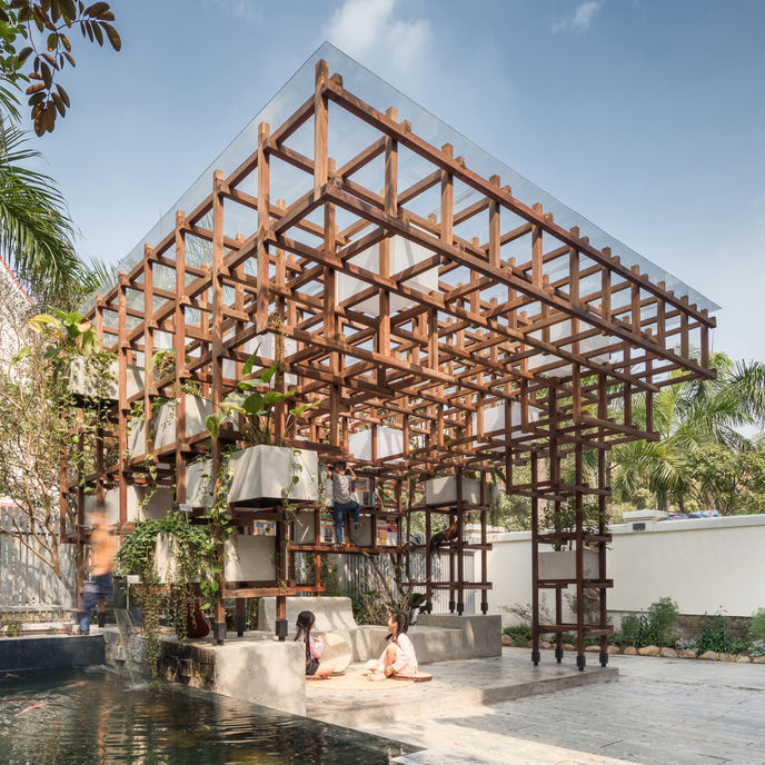 VAC Library by Farming Architects, Vietnam