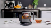 A connected teapot that brews personalised tea