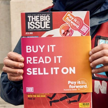 Pay It Forward by The Big Issue and Monzo, UK