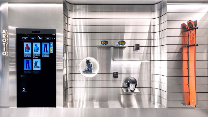 Durasport retail store by Ministry of Design, Changi Airport, Singapore