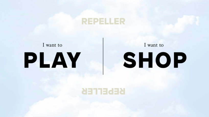 Repeller by Man Repeller. Web design by Studio Scissor