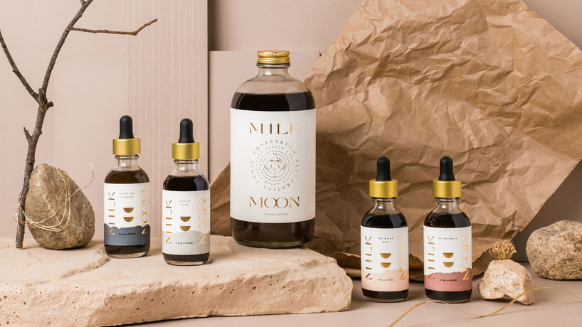 Milk Moon branding by Kati Forner