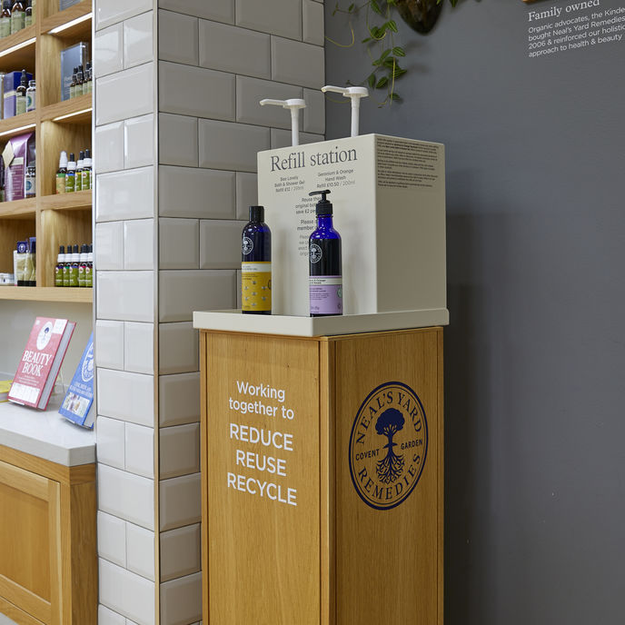 Neal's Yard in-store refill station