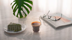 This drinking glass fosters coffee connoisseurship