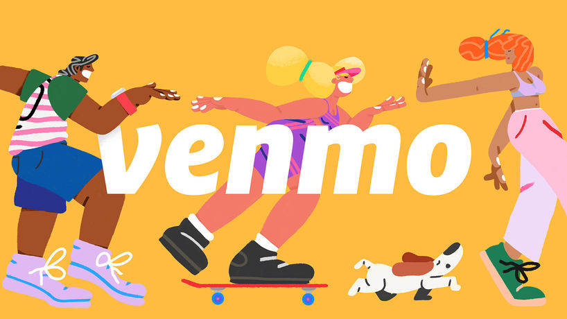 Venmo branding by Sebastian Curi