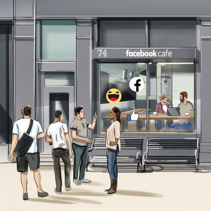Facebook cafe, UK