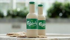 Carlsberg unveils the world's first paper beer bottles