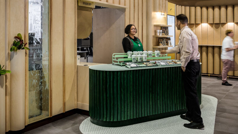 Starbucks Pickup store, New York