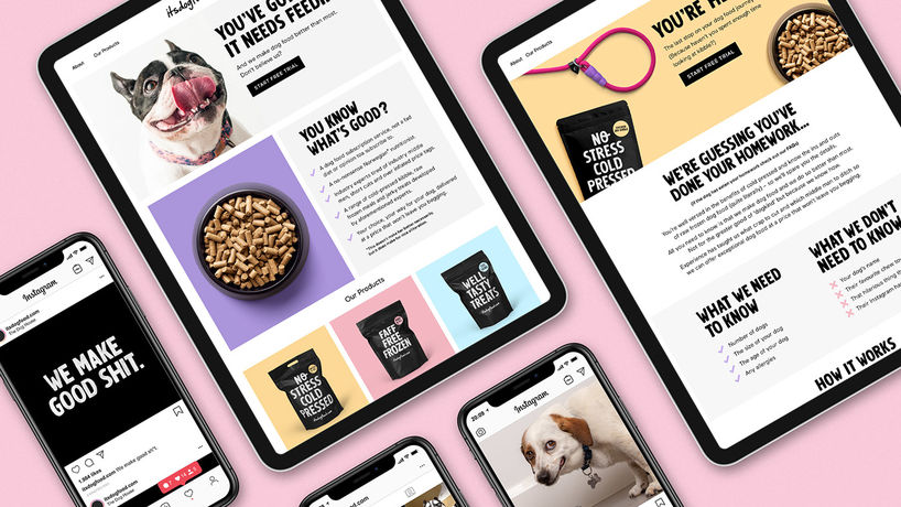 itsdogfood.com branding by Robot Food, UK