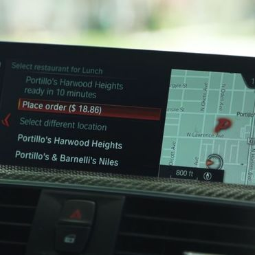 BMW is trialling in-car food ordering