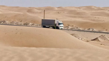 A campaign to improve the safety of UAE truck drivers