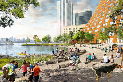 River Street by James Corner Field Operations and BIG-Bjarke Ingels Group, courtesy of Two Trees Management