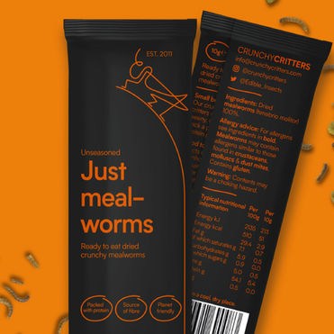 Crunchy Critters rebrand tackles insect 'ick factor'