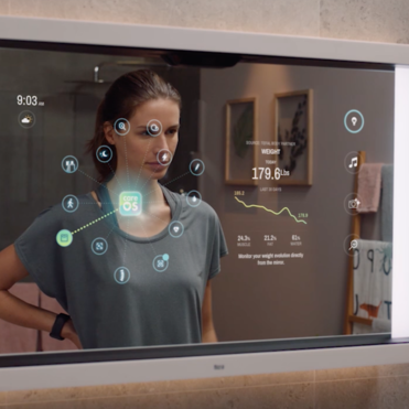 Poseidon is an intuitive smart mirror for holistic health