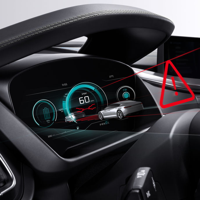 Bosch 3D display in vehicle