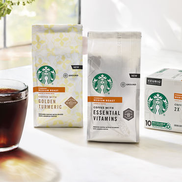 Starbucks uplifts caffeine with essential vitamins