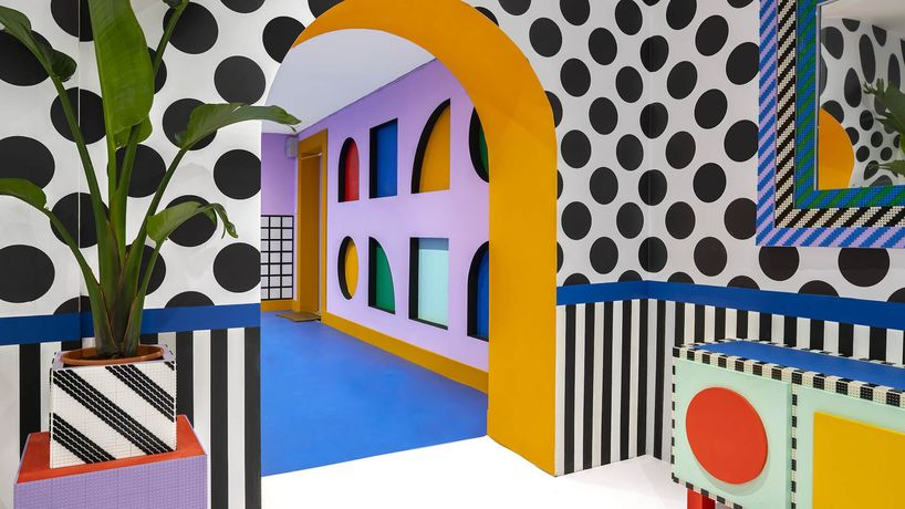 Lego Dots, House of Dots designed by Camille Walala
