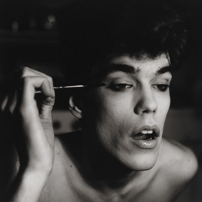 David Brintzenhofe Applying Makeup (II) by Peter Hujar, Masculinities at Barbican, London