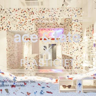 Ace & Tate's new store is built from plastic waste