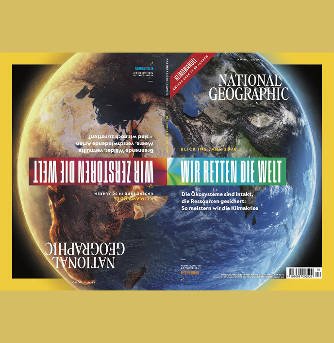 Earth Day's 100th anniversary cover, National Geographic