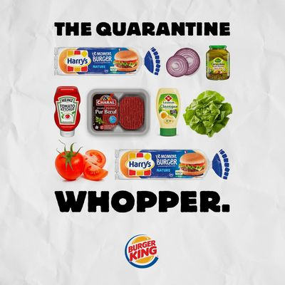 Le Whopper de la Quarantine by Burger King, France